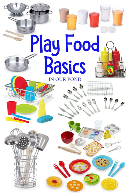 Best Play Food for the Toy Kitchen // In Our Pond // Gift Guide for Kids // Fuel the imagination // Pretend Play // Basic Kitchen Toys