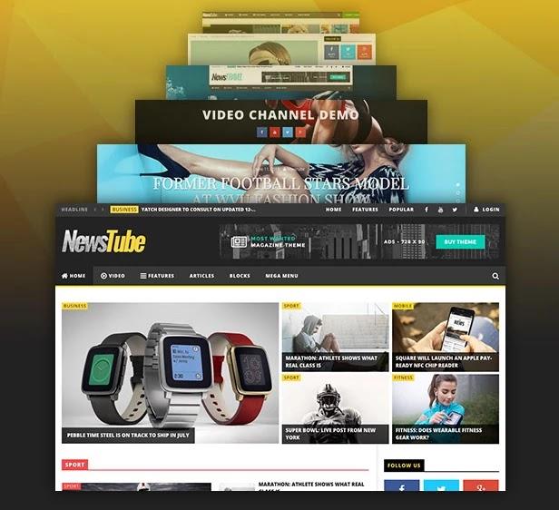 قالب نيوزتيوب - للمجلات ومواقع الفيديو
