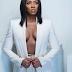 Tiwa Savage Goes Braless In White Suit [PHOTO]