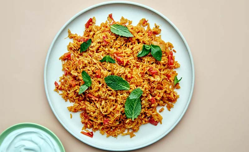Buttery Tomato and Cinnamon-Spiced Rice