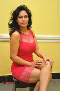 Telugu Actress Vijaya Murthy Stills in Red Short Dress at Www.Meena Bazaar Movie Opening  0074.JPG