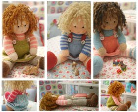 TEAROOM Dolls Knitting Pattern...