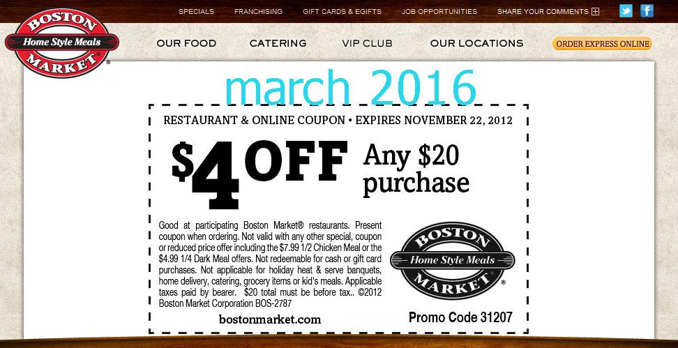 Boston market coupons october 2019