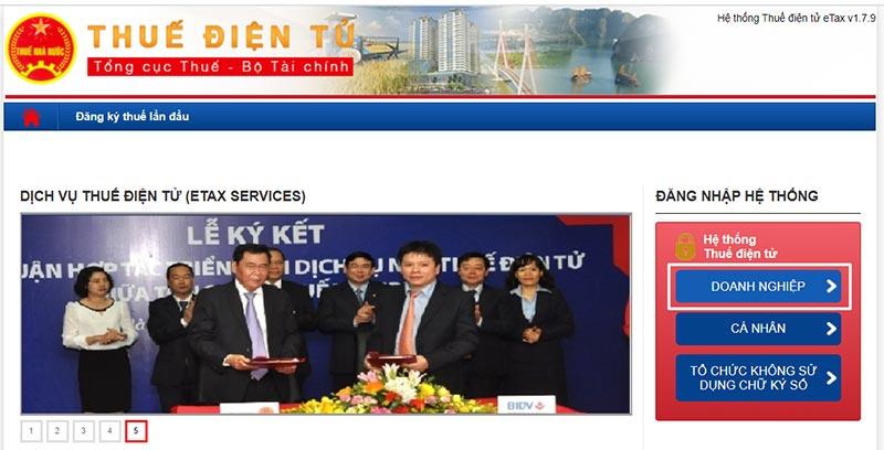 Hình 3 - Giao diện Trang Thuế điện tử