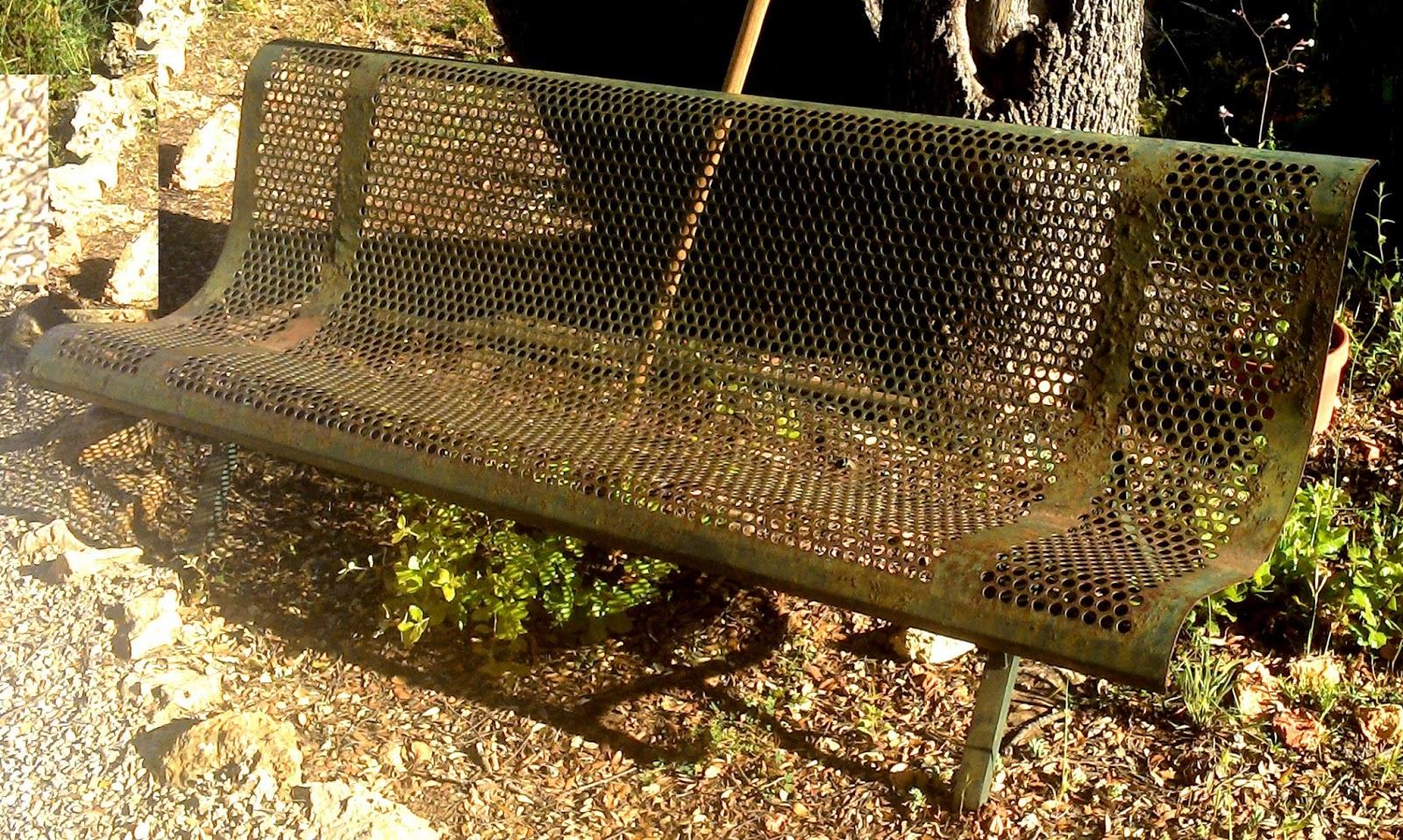 Ancien Banc De Jardin Public En Fer Vert Début Xxème Siècle I