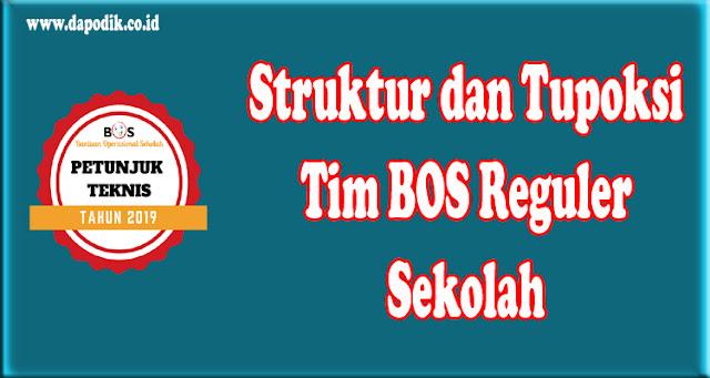 Struktur dan Tupoksi Tim BOS Reguler Sekolah Tahun Ajaran 2019/2020