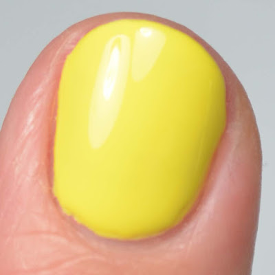 yellow nail polish close up swatch