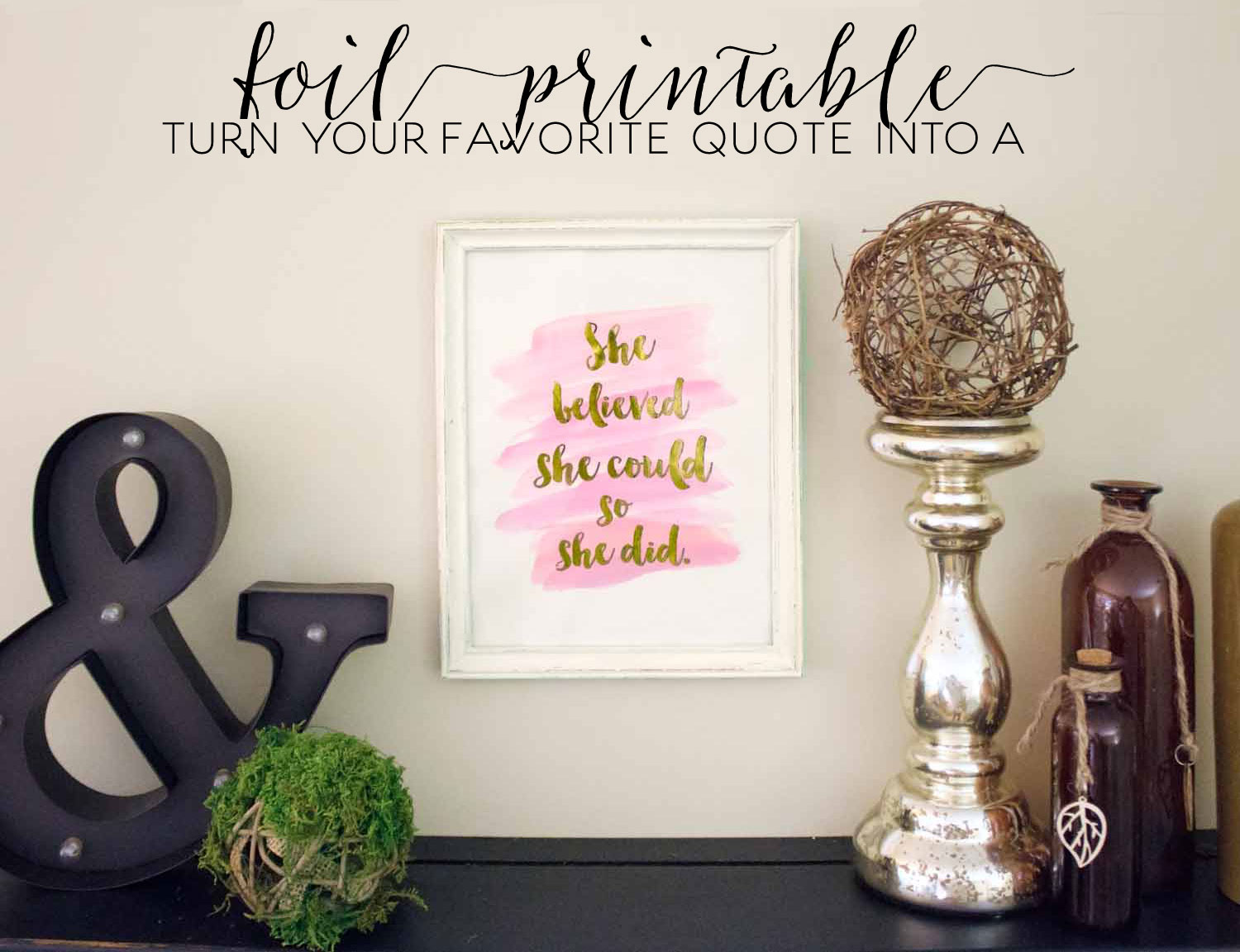 printable she believed she could so she did