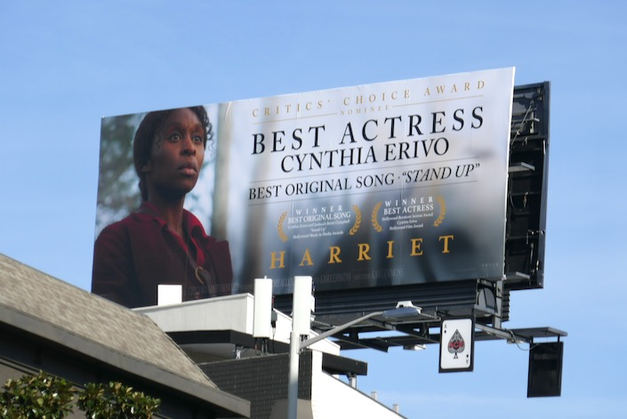 Cynthia Erivo Harriet Critics Choice nominee billboard