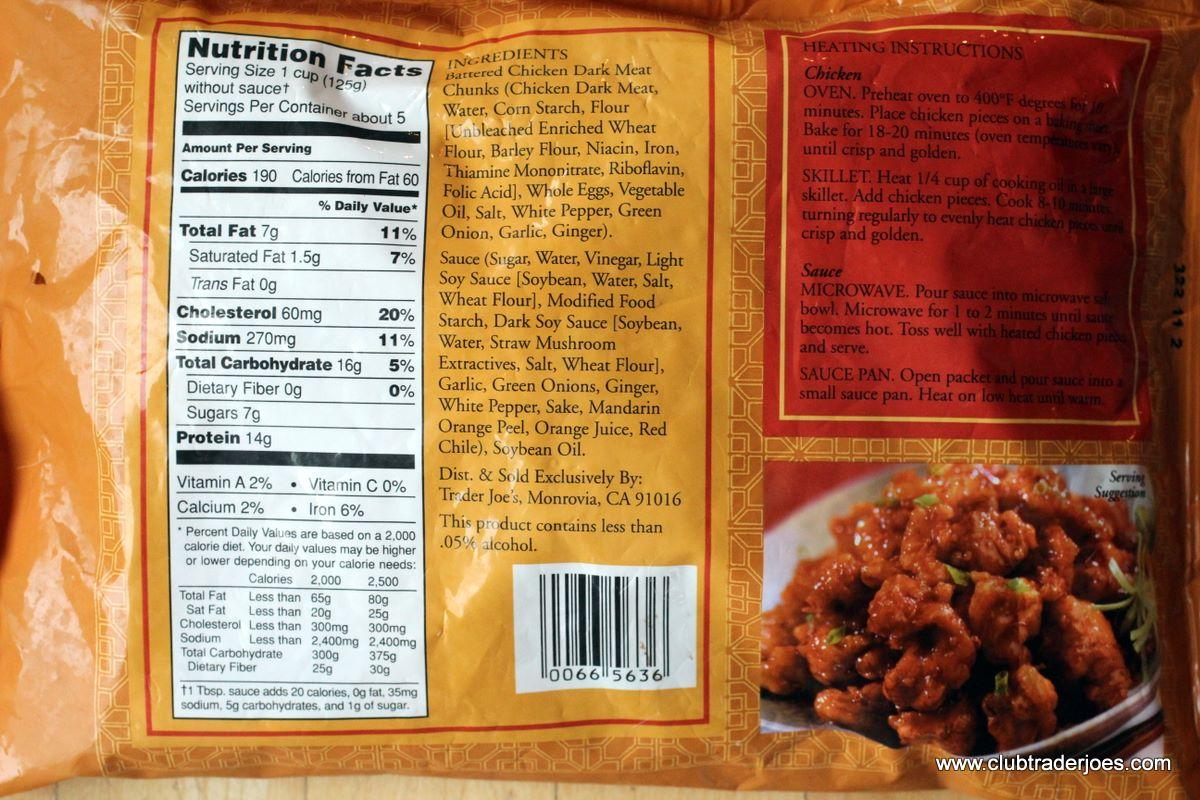 trader joes chicken strips nutritional data Next