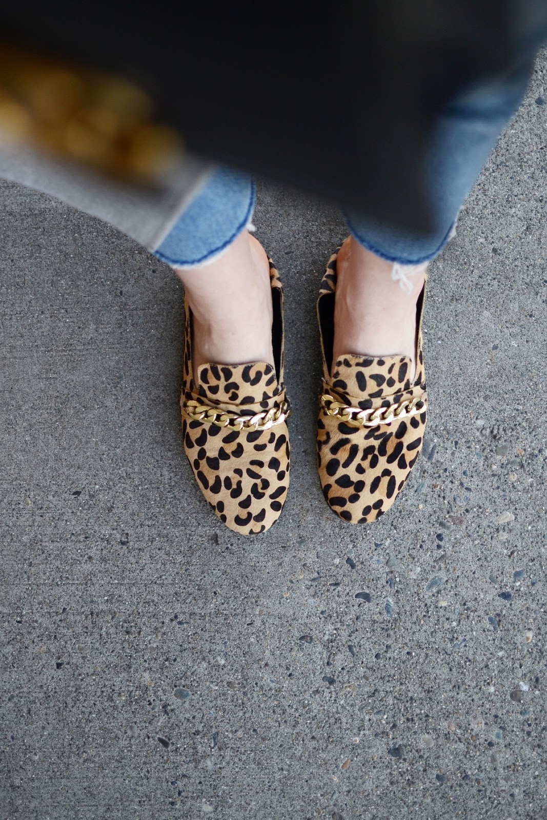 Steve Madden leopard loafers outfit