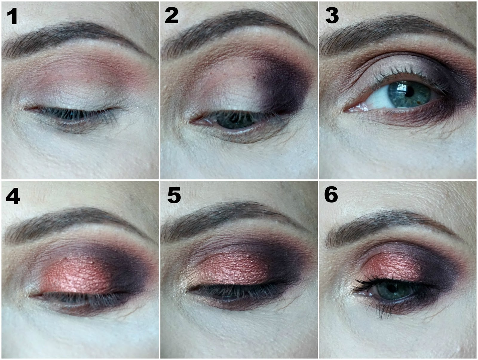 Easy smokey eye look created with The Balm Nude Beach palette