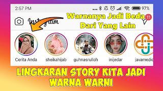 Cara Mengubah Warna Lingkaran Instagram Story