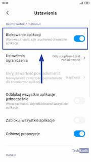 MIUI Wyłączanie Blokady Aplikacji