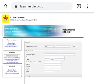 MAsukan noor ID Pelanggan