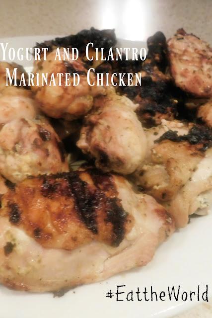 Yogurt and Cilantro Marinated Grilled Chicken