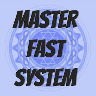 master fast system text on mandala background