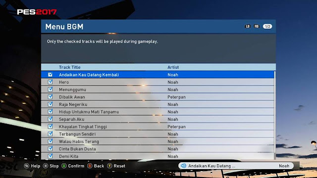 PES 2017 Playlist Peterpan / Noah Band by Budy Muhammad