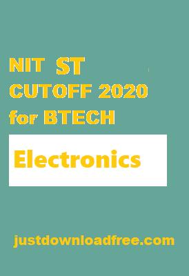 NITs ECE ST CUTOFF 2020 for BTECH