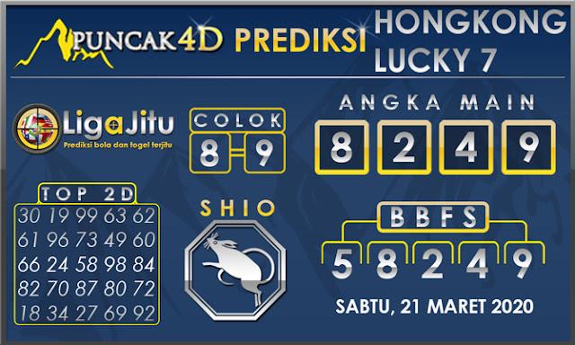 PREDIKSI TOGEL HONGKONG LUCKY7 PUNCAK4D 21 MARET 2020