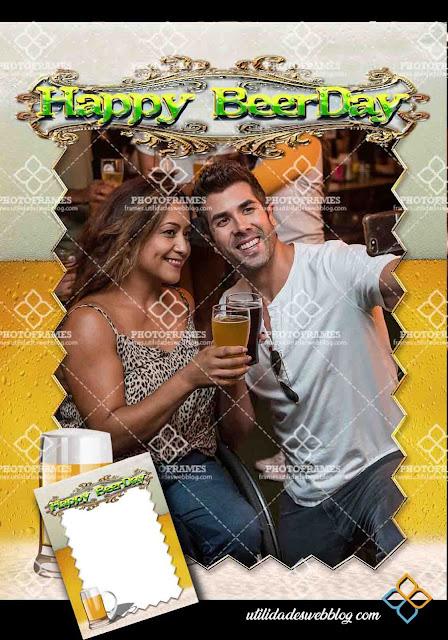 Marco para fotos de cumpleaños ( Happy Beerday )