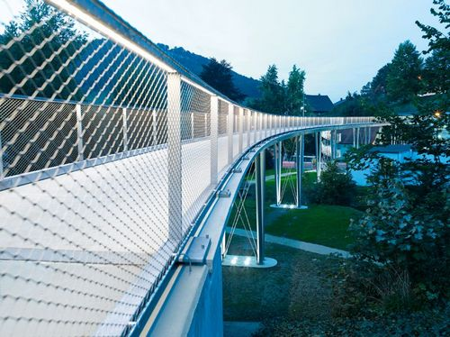 delicate bridges made of textile concrete