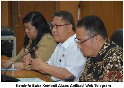 Menteri Komunikasi dan Informatika Rudiantara dalam konferensi pers di Gedung Kemkominfo