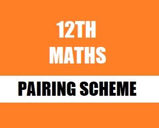 FSc. Part-2 Mathematics Pairing Scheme 2019