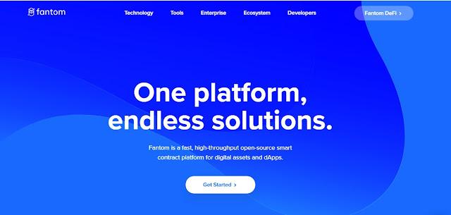 Halaman Website Fantom (FTM) Cryptocurrency