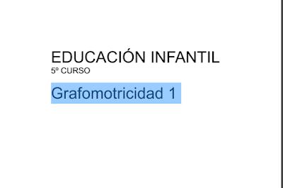 grafomotricidad 4 años