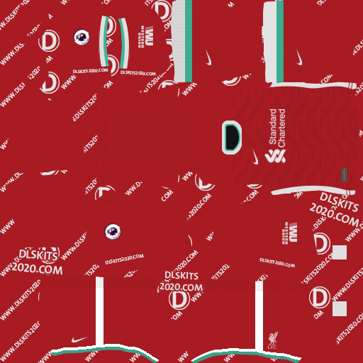 liverpool kits 2020-2021 by nike kits dream league soccer 2020 (home)