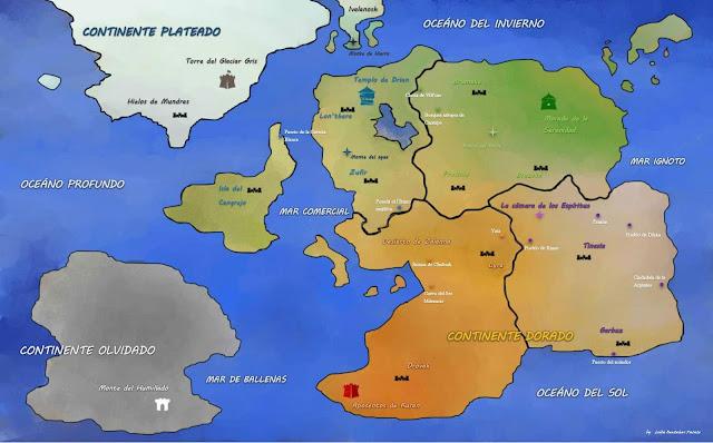 Ecos del pasado, mapa