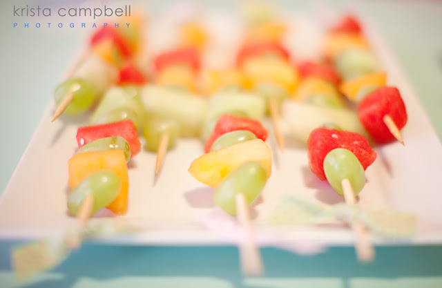 fruit skewers, baby shower food, melon, skewered fruit, lil ladybug