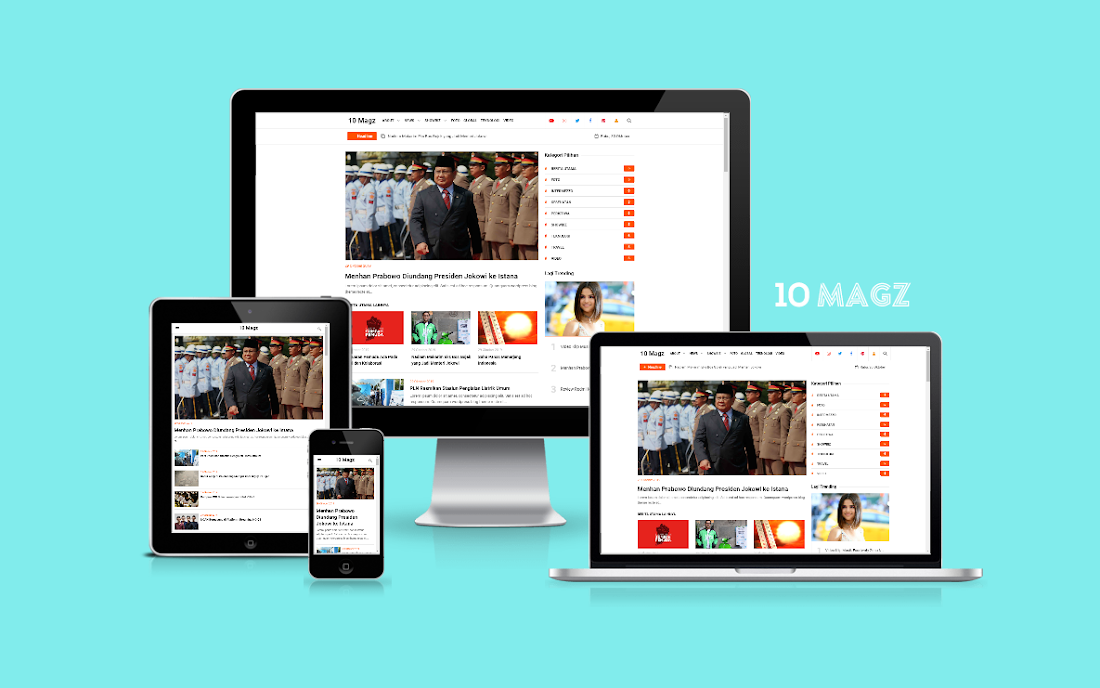 10 Magz - Latest Version-Premium Blogger Template Free Download.