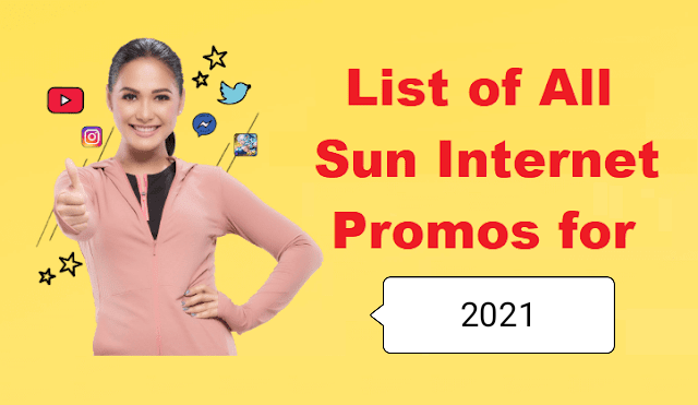 List of Sun Cellular Internet Promos