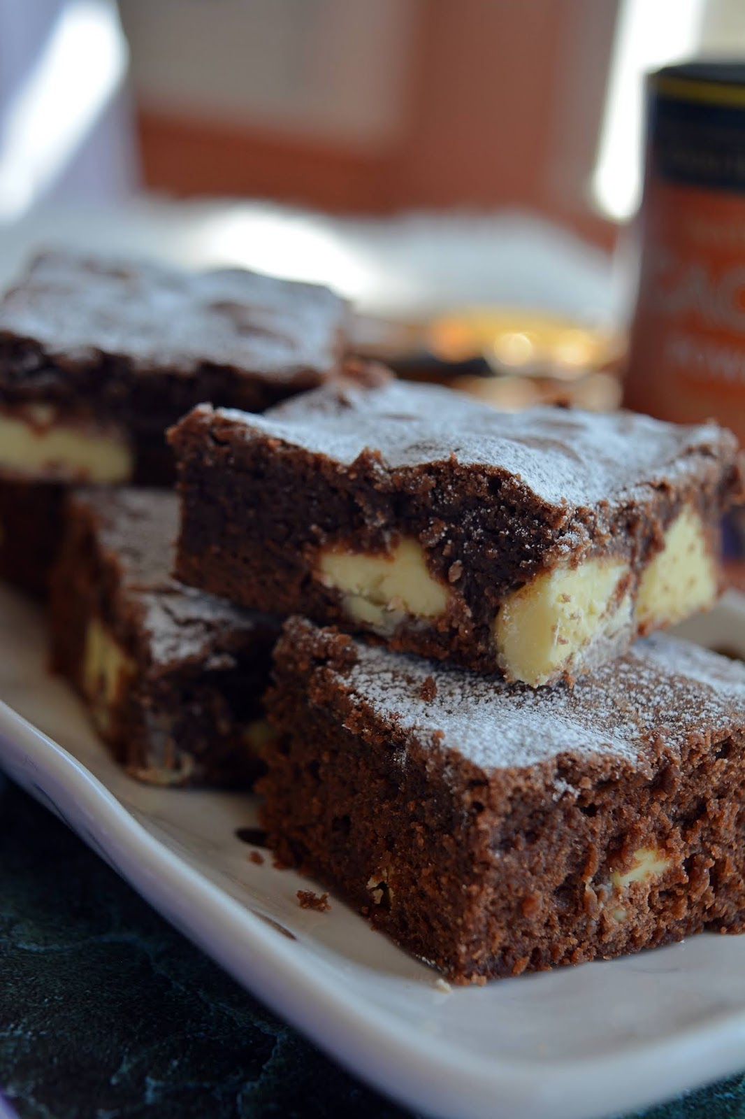baking, chocolate traybake, white chocolate, brownie