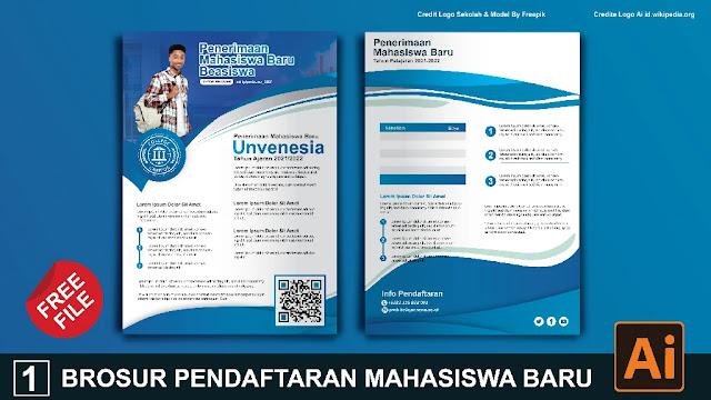 Download Kumpulan Brosur Pendaftaran Mahasiswa Baru Coredraw Dan Illustrator