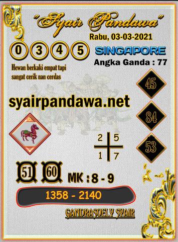 Gambar Syair Pandawa Sgp rabu 03 maret 2021