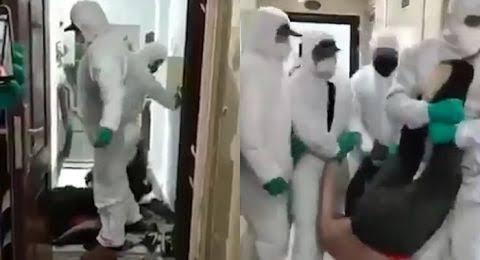 Video Mengerikan, Pasien Suspect Virus Corona Diseret dari Rumah