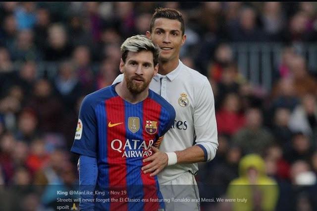 Leo Messi and Ronaldo Send Greetings to Kobe Bryant