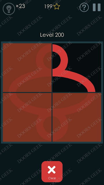 Symmetry - Drawing Puzzles Level 200 Solution, Cheats, Walkthrough