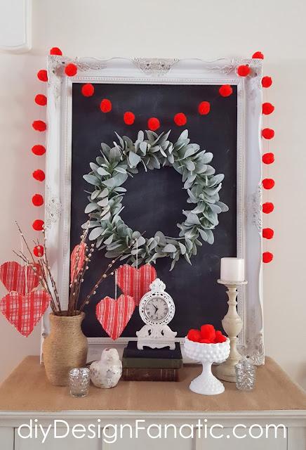 Valentine's Day ideas, Valentine's Day Tablescape, Valentine's Day, Valentine's Day Craft, Valentine's Day Pillows, Valentine's Day Vignette