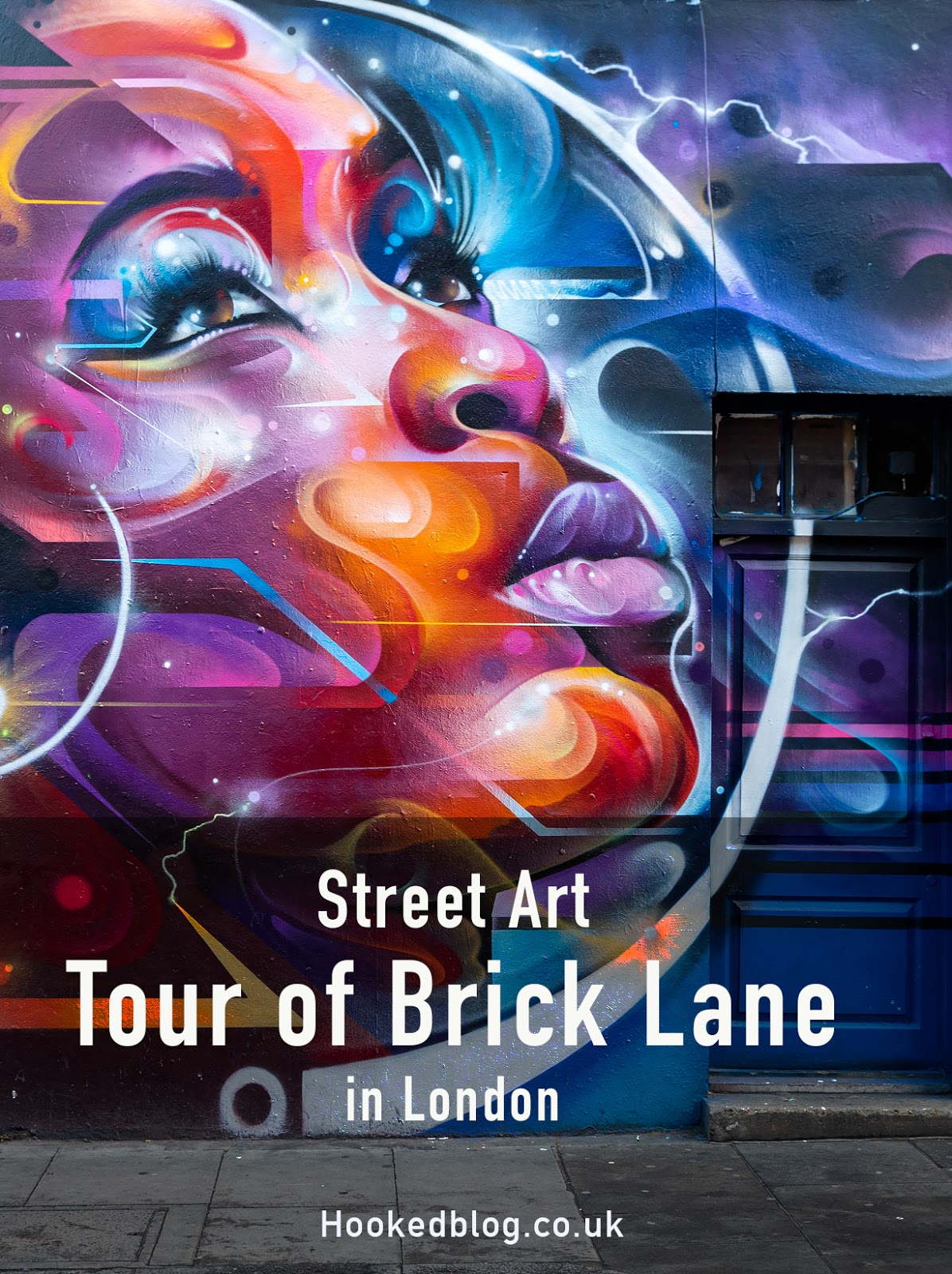 A Street Art Tour of Brick Lane in London, with photographs and a google map to guide you to some of the best street art in Brick Lane. #streetart #murals #Hookedblog