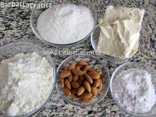 Bomboane cu cocos si migdale - toate ingredientele necesare retetei