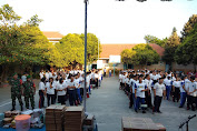 Keren, Acara Gerak Jalan SMA 1 Kristen Sidokare Dikawal Babinsa