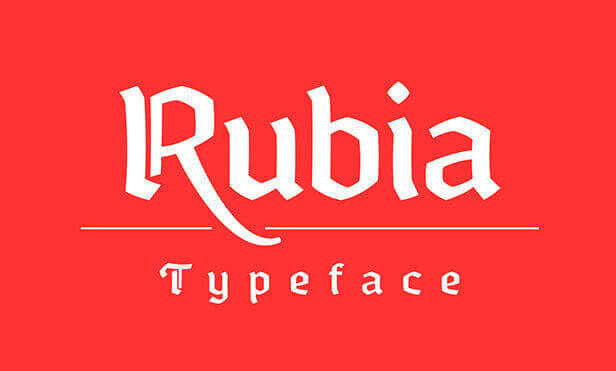 Font Modern Blackletter Grafis - Rubia Perfect Parallel Typeface