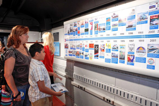 Amtrak 40th Anniversary, Exhibit Train visitors
