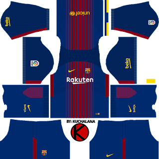 Barcelona Nike Kits 2017/2018 - Dream League Soccer