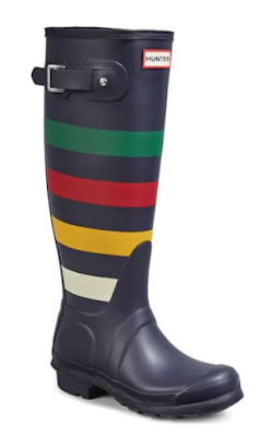 Hudson's Bay Stripe Hunter Boots
