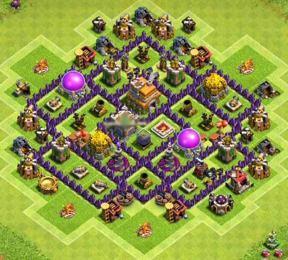 town hall level 7 farming base